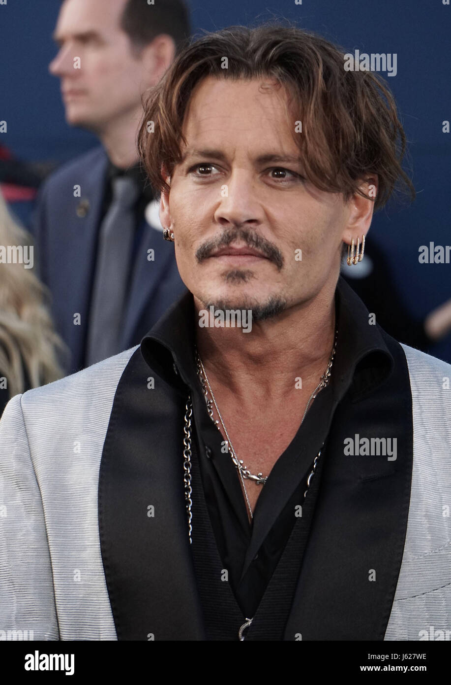 Los Angeles, USA. 18th May, 2017. Johnny Depp 018 arriving at The Pirates Of The Caribbean- Dead Men Tell No Tales - Stock Image