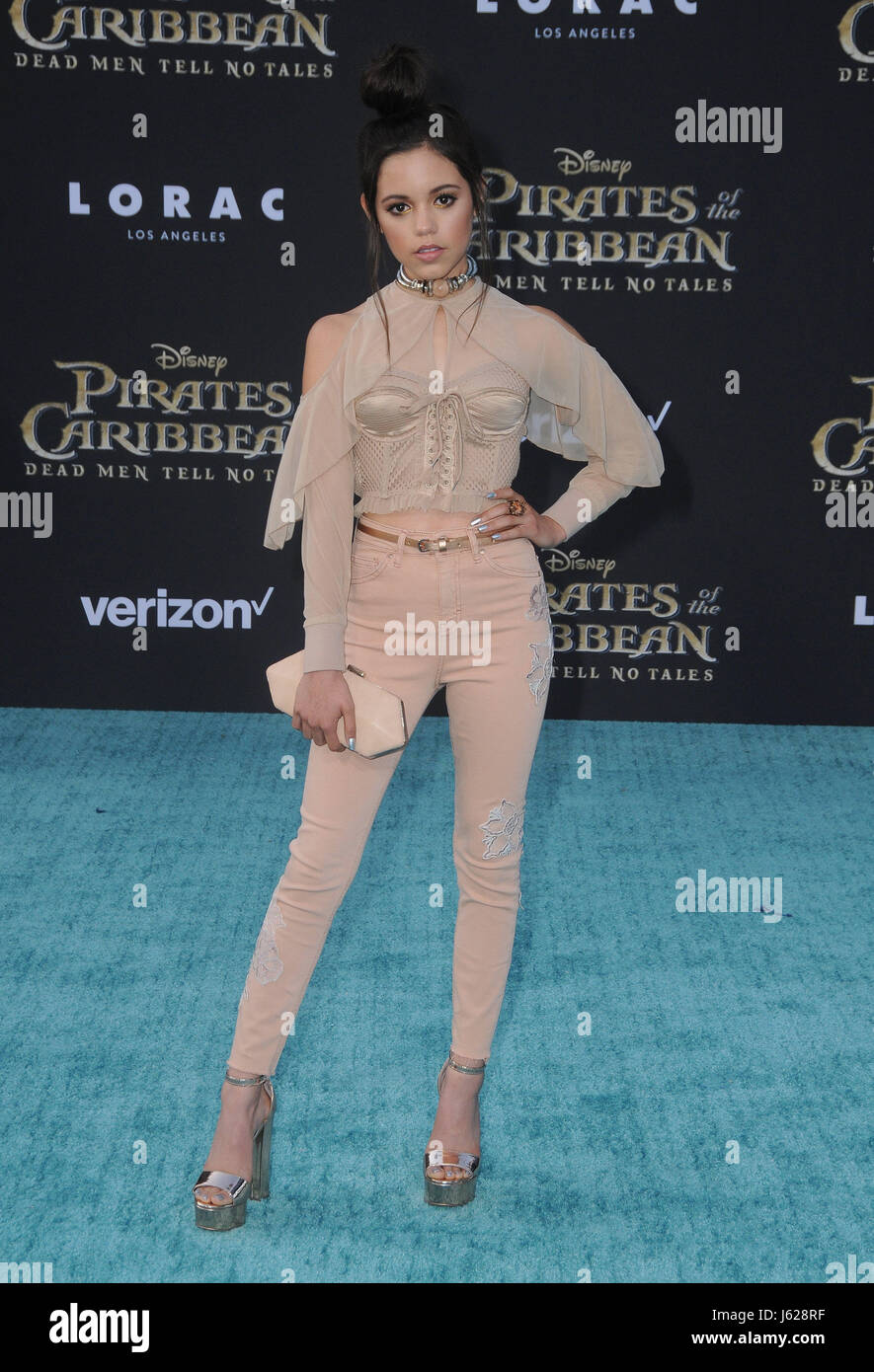 Hollywood, CA, USA. 18th May, 2017. Jenny Ortega. Premiere Of Disney's ''Pirates Of The Caribbean: Dead - Stock Image