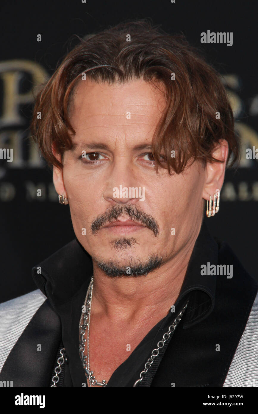 Los Angeles, USA. 18th May, 2017. Johnny Depp 05/18/2017 The US premiere of The Pirates Of The Caribbean: Dead Men - Stock Image