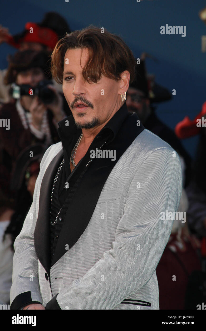 Los Angeles, USA. 18th May, 2017. Johnny Depp  05/18/2017 The US premiere of The Pirates Of The Caribbean: Dead - Stock Image