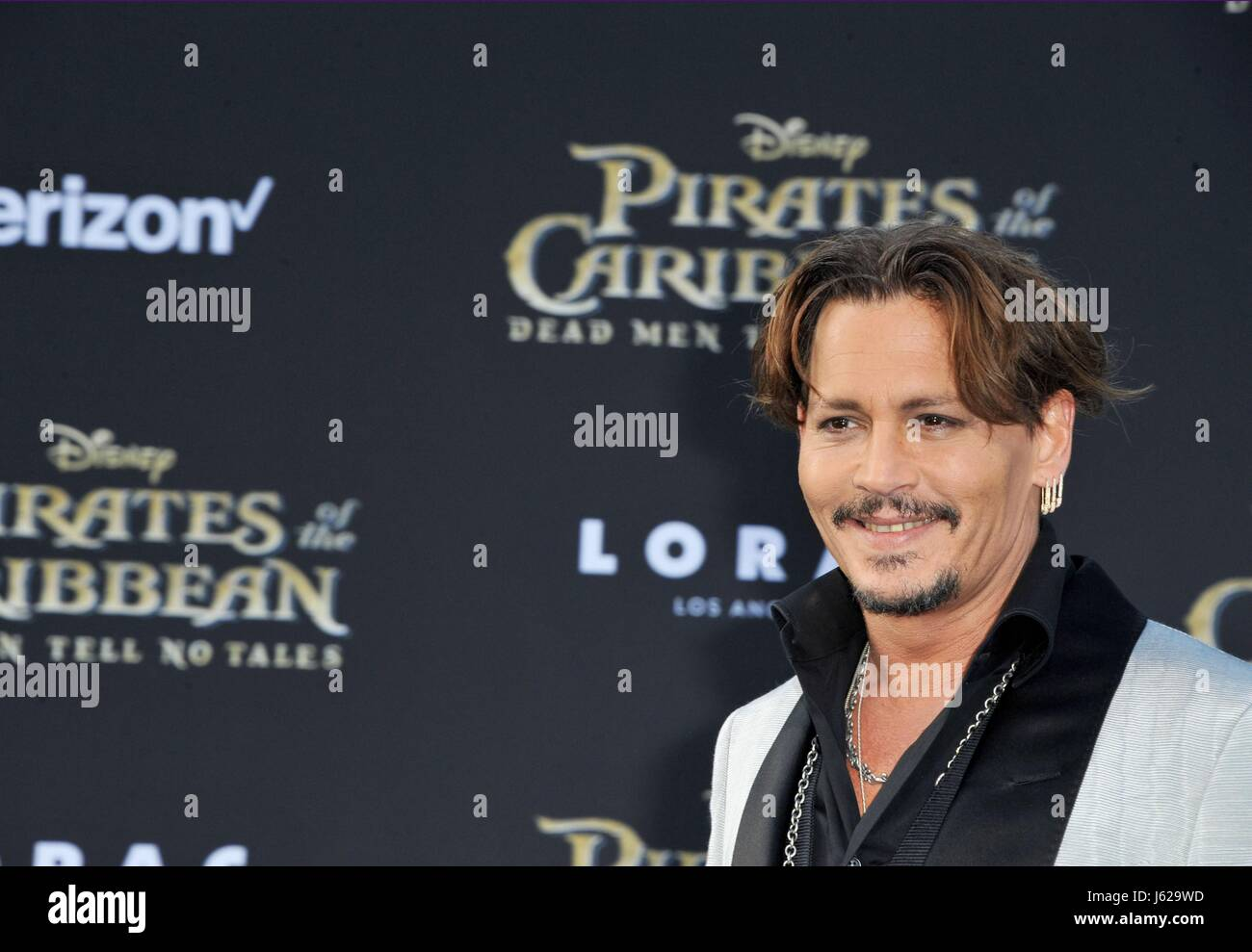Los Angeles, CA, USA. 18th May, 2017. Johnny Depp at arrivals for PIRATES OF THE CARIBBEAN: DEAD MEN TELL NO TALES - Stock Image