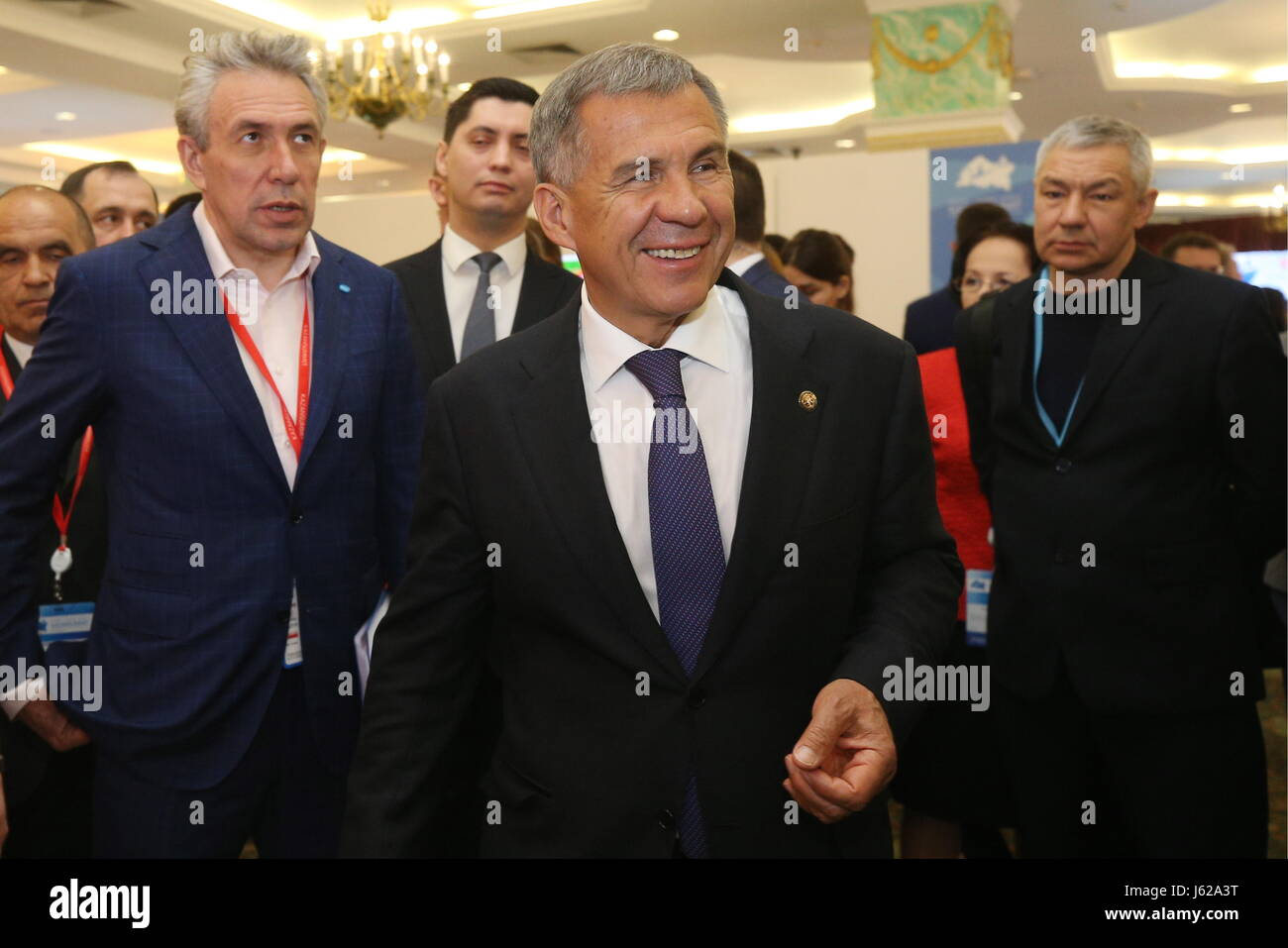 Kazan, Russia. 19th May, 2017. Chairman at the Bank for Development and Foreign Economic Affairs (Vnesheconombank), - Stock Image