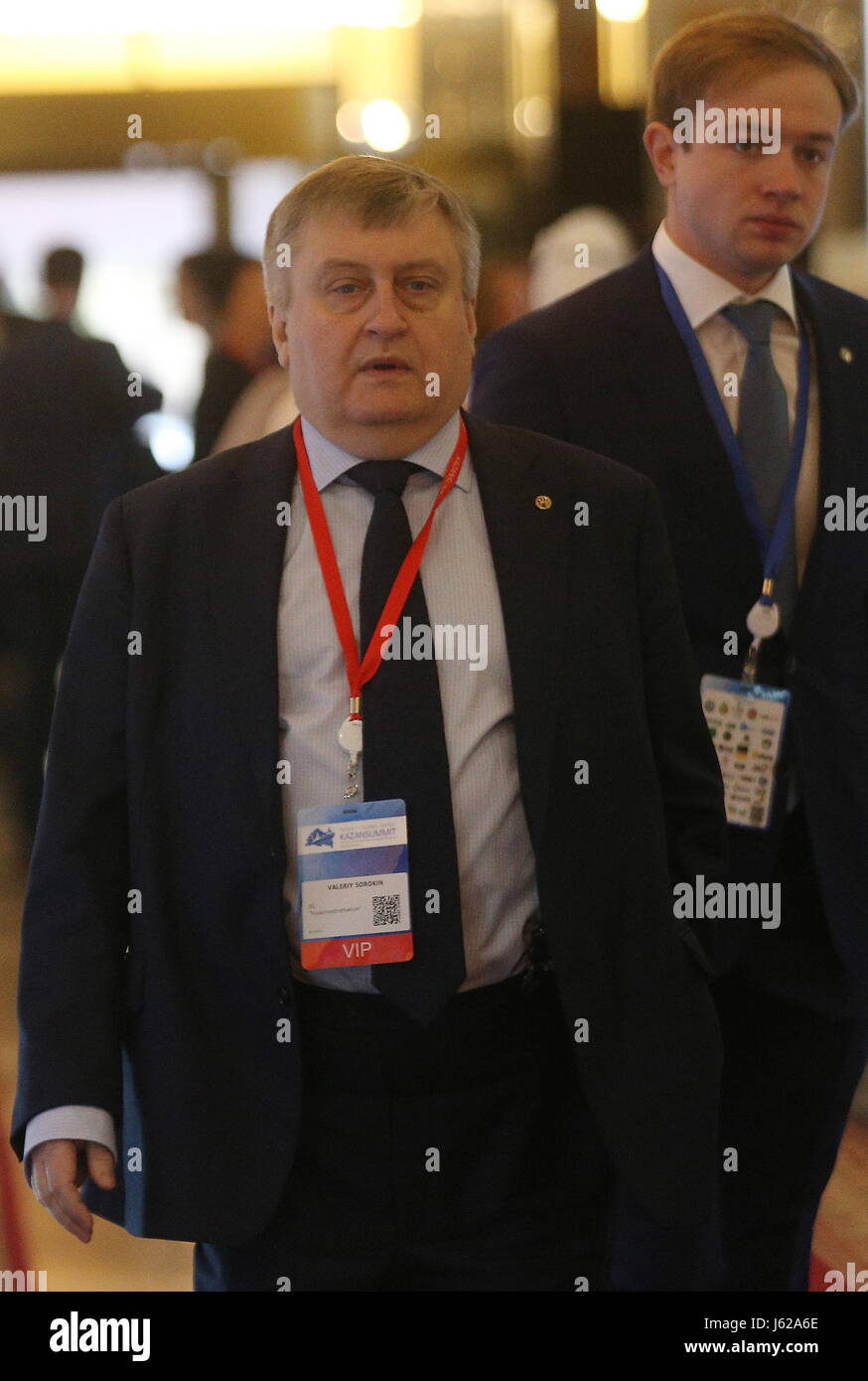 Kazan, Russia. 19th May, 2017. Svyazinvestneftekhim General Director Valery Sorokin attends the 9th International Stock Photo