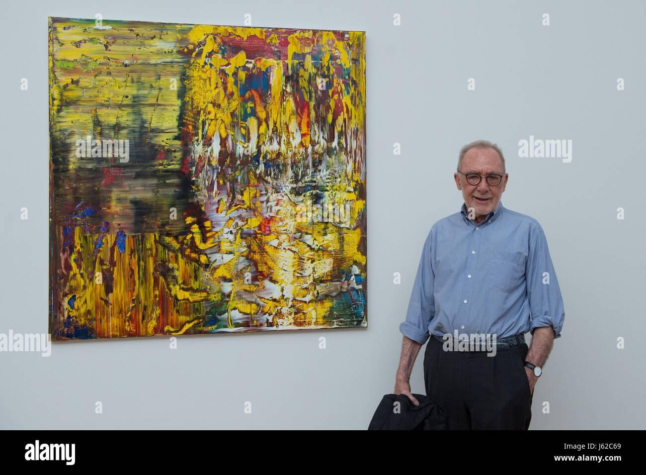 Dresden, Germany. 19th May, 2017. German artist Gerhard ...  Dresden, German...