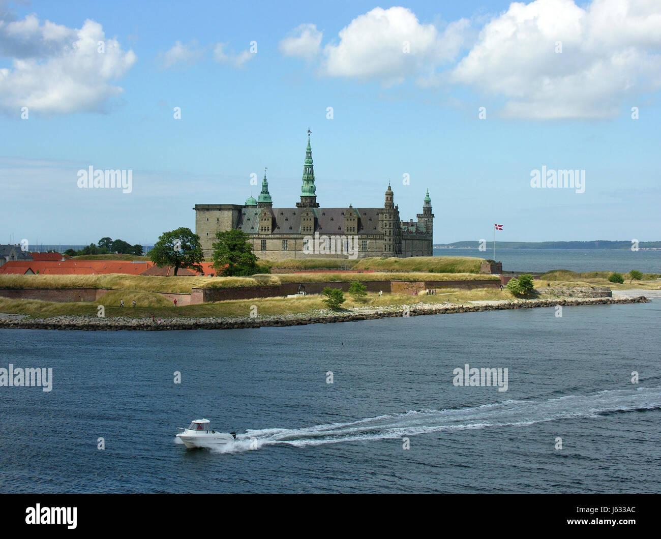 kronborg castle in helsingor Stock Photo