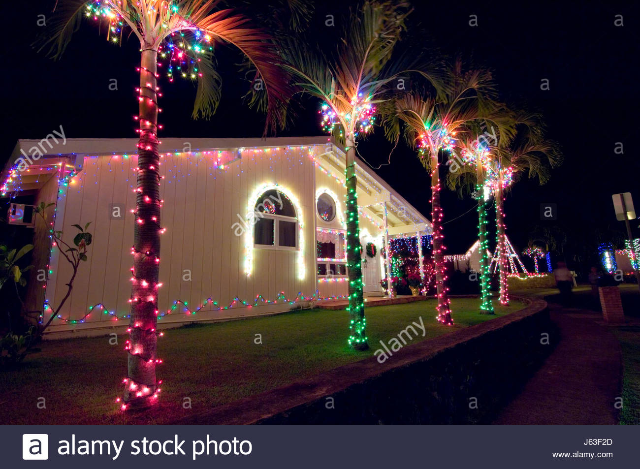 Hawaii Christmas Lights Stock Photos Hawaii Christmas Lights Stock