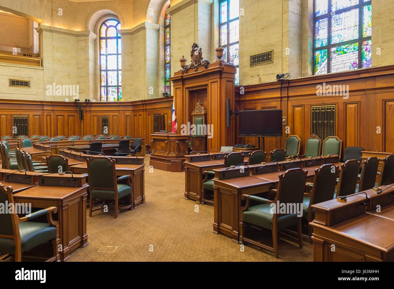 Montreal city hall council chamber - Stock Image