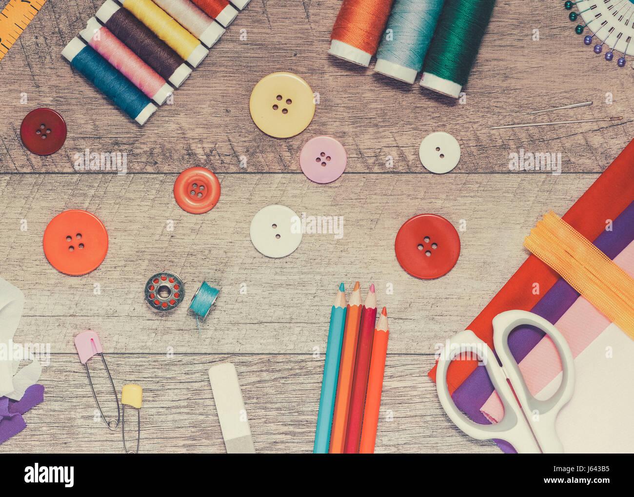 Workplace Of Fashion Designer Studio With Equipment Stock Photo Alamy