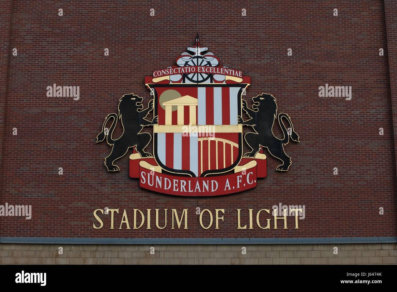 SUNDERLAND EMBLEM STADIUM OF LIGHT SUNDERLAND AFC STADIUM OF LIGHT SUNDERLAND STADIUM OF LIGHT SUNDERLAND ENGLAND - Stock Image