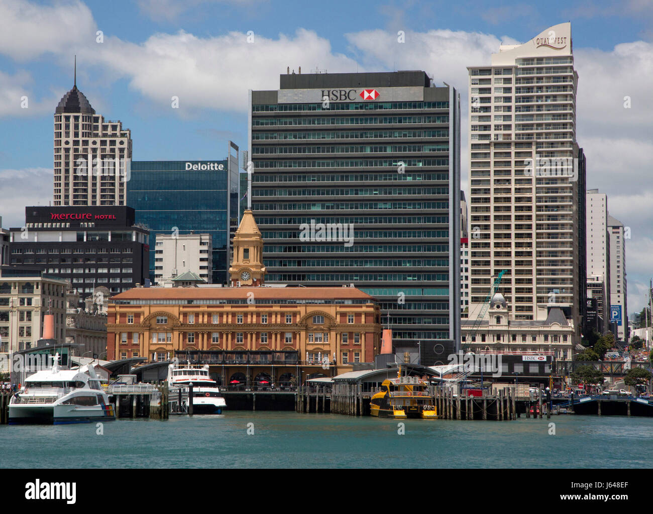 Auckland ferry terminal, New Zealand - Stock Image