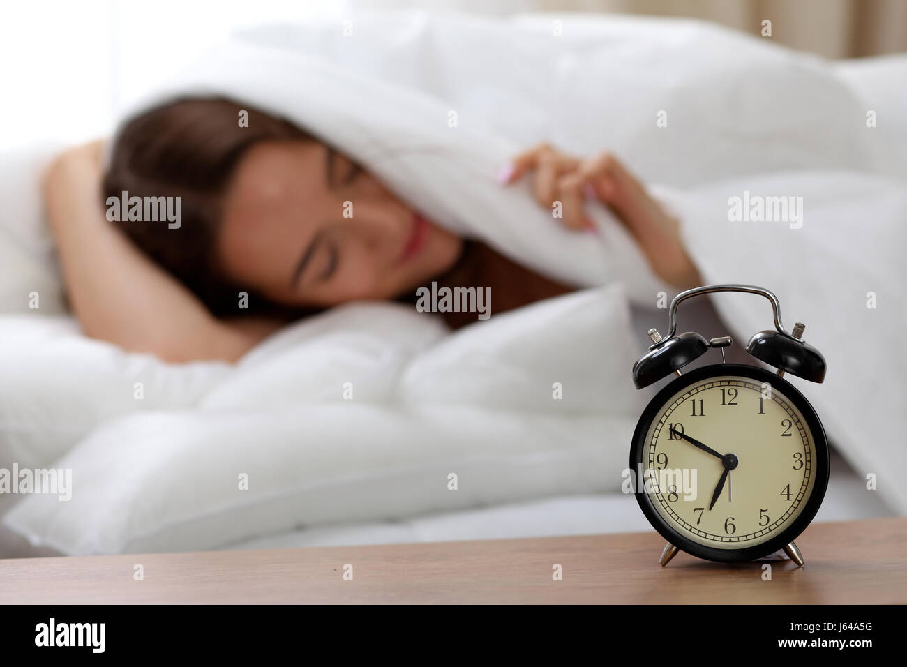 Best Alarm Bedside - alarm-clock-standing-on-bedside-table-has-already-rung-early-morning-J64A5G  Image_488322.jpg