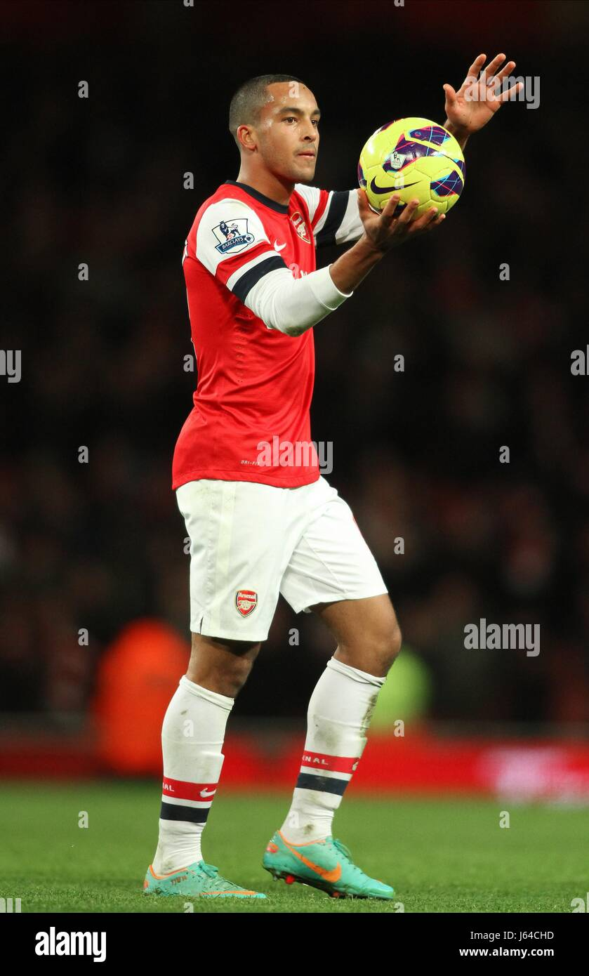 THEO WALCOTT GRABS MATCH BALL ARSENAL V NEWCASTLE UNITED LONDON ENGLAND UK 29 December 2012 - Stock Image