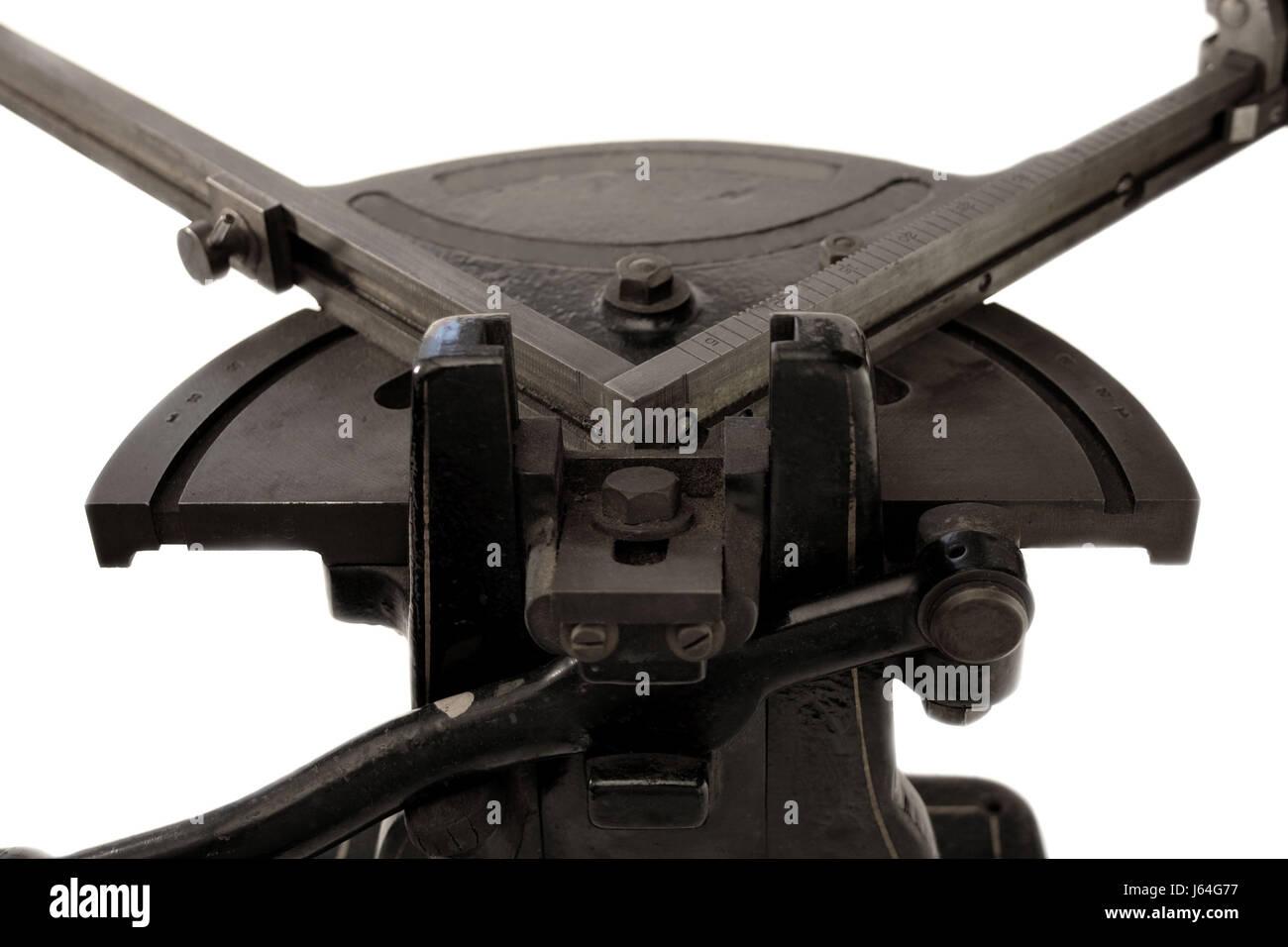 tool industrial corner equipment precision miter measuring machine antique Stock Photo