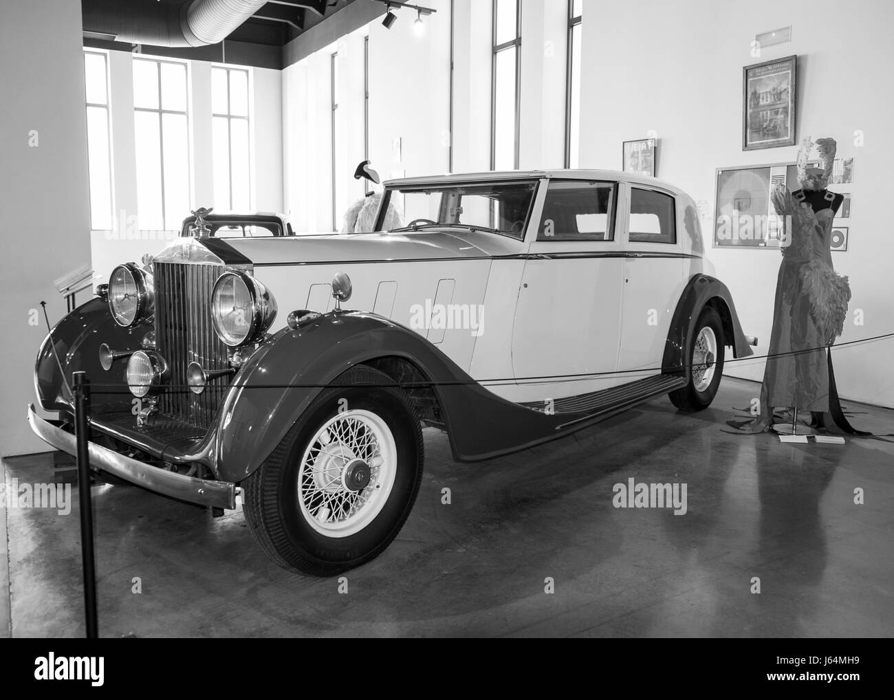 Rolls Royce Phantom III. Automobile museum of Málaga, Andalusia, Spain. - Stock Image
