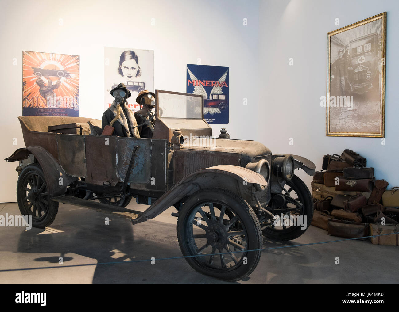 Minerva. Automobile museum of Málaga, Andalusia, Spain. - Stock Image