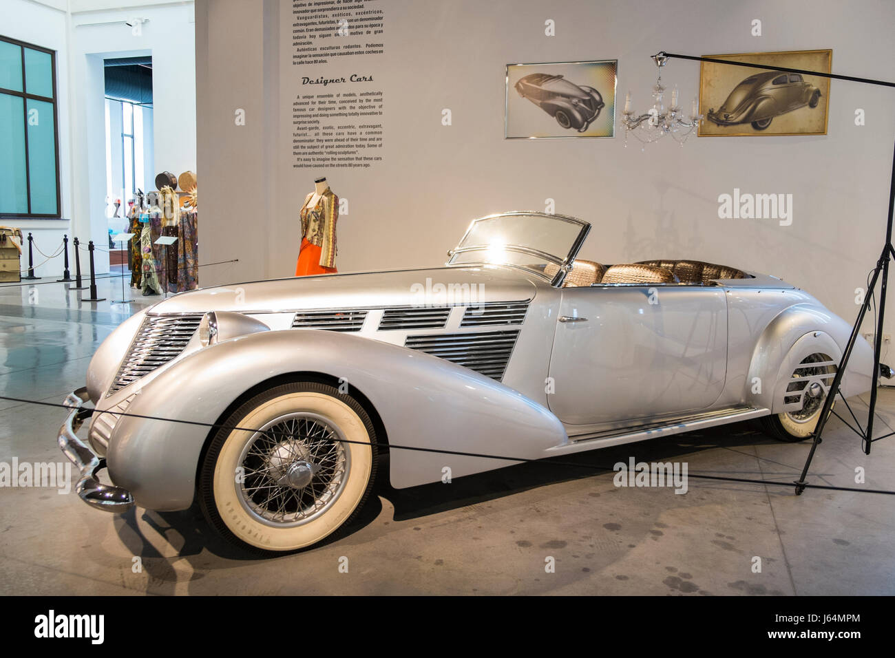 1939 Lancia Astura. 'The last work of Vincenzo'. Automobile museum of Málaga, Andalusia, Spain. - Stock Image