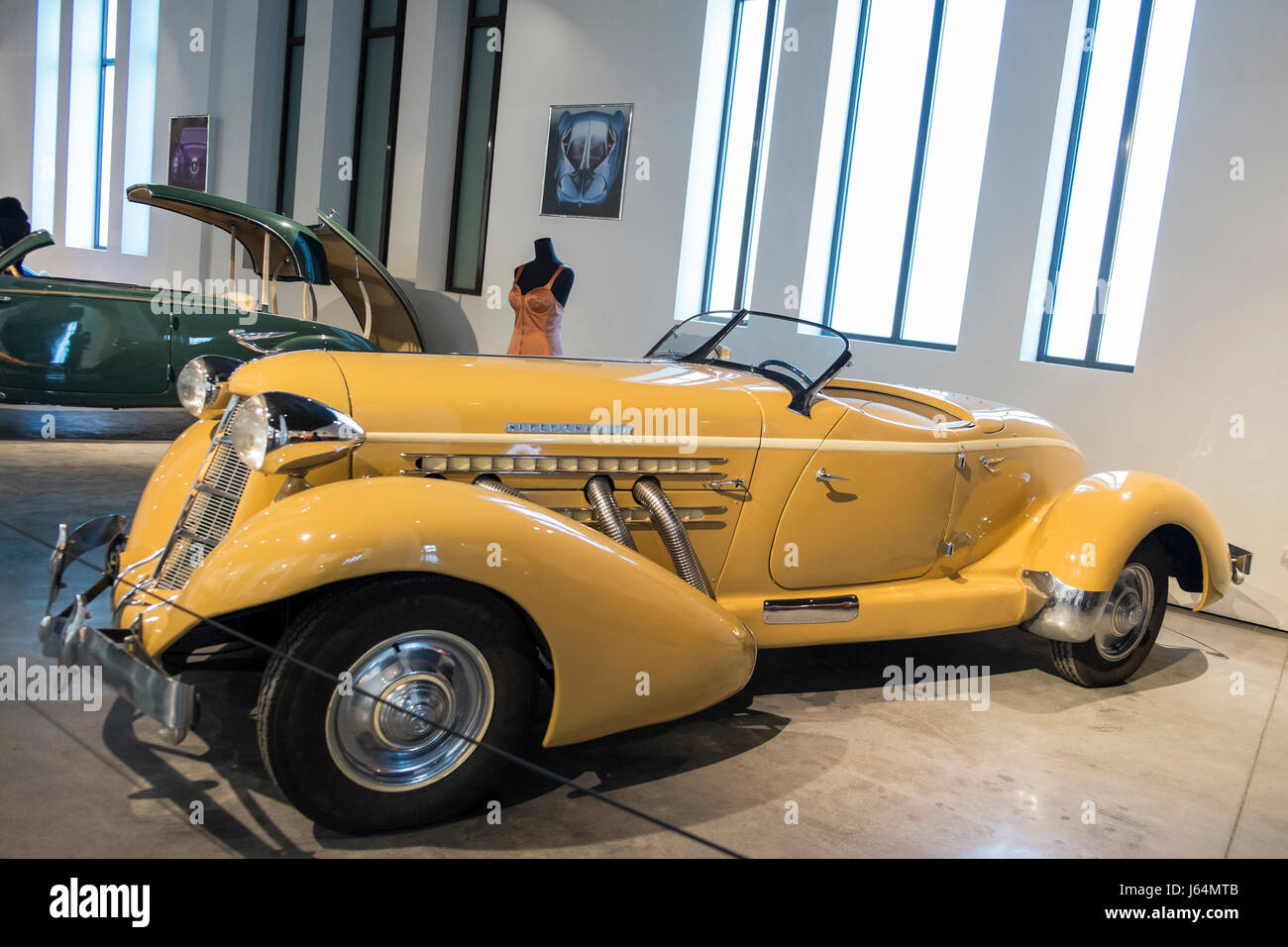 1936 Auburn 852. Automobile museum of Málaga, Andalusia, Spain. - Stock Image