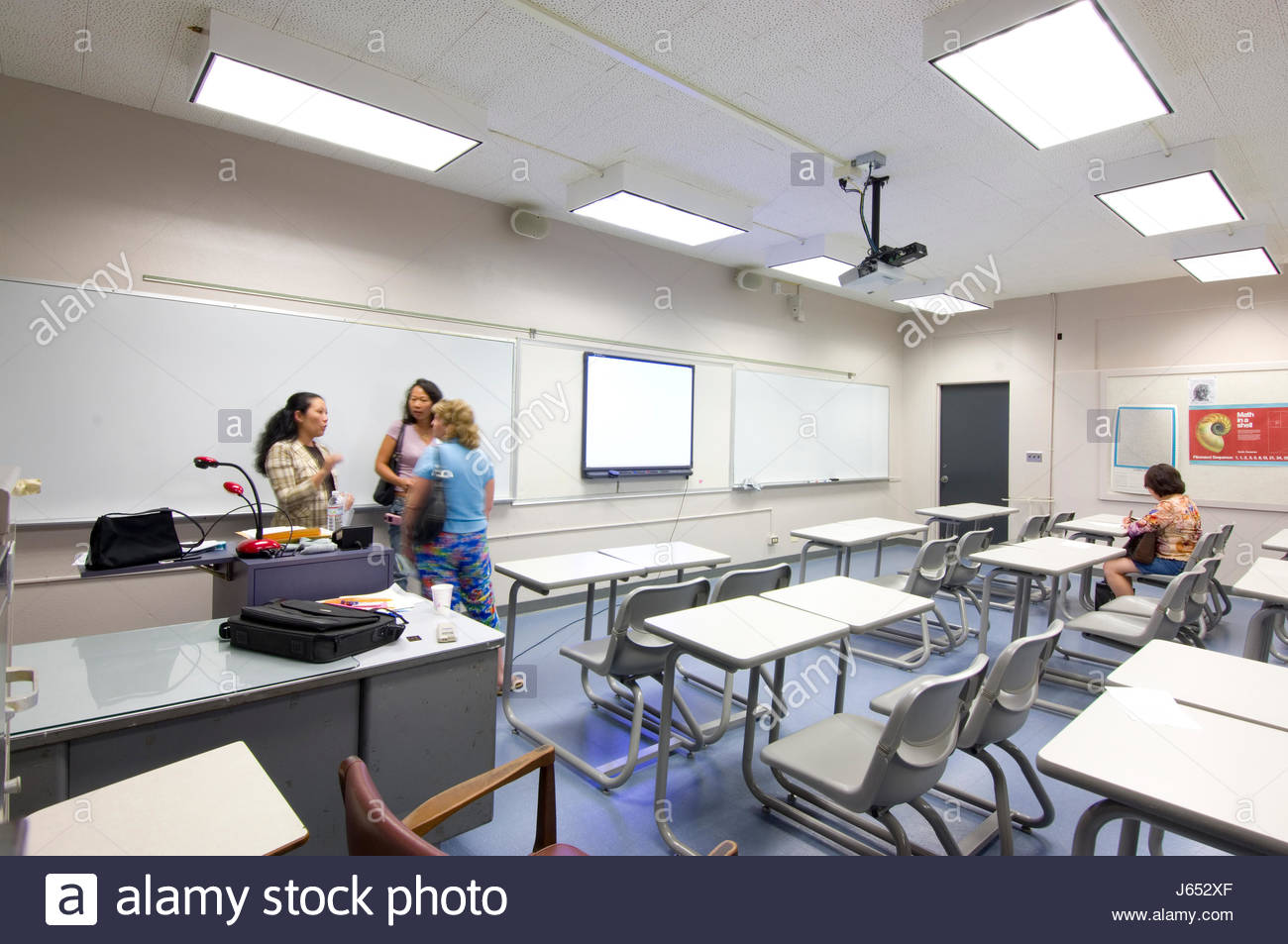 Open house for parents to meet their children's high school teachers and to get information about the upcoming academic - Stock Image