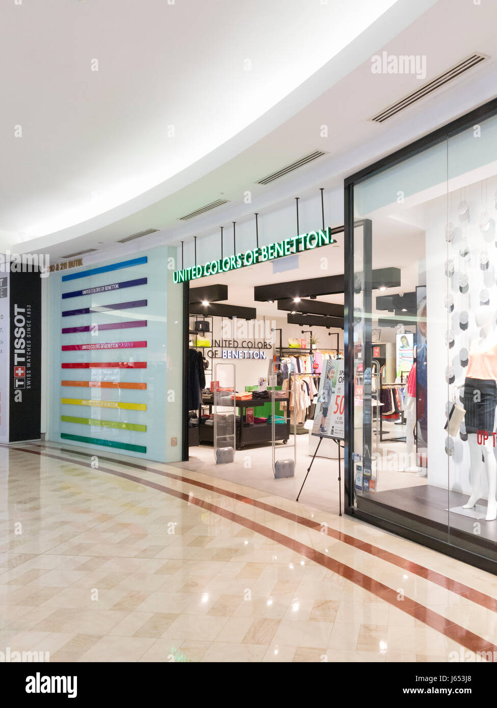United colors of Benetton shop, Malaysia - Stock Image