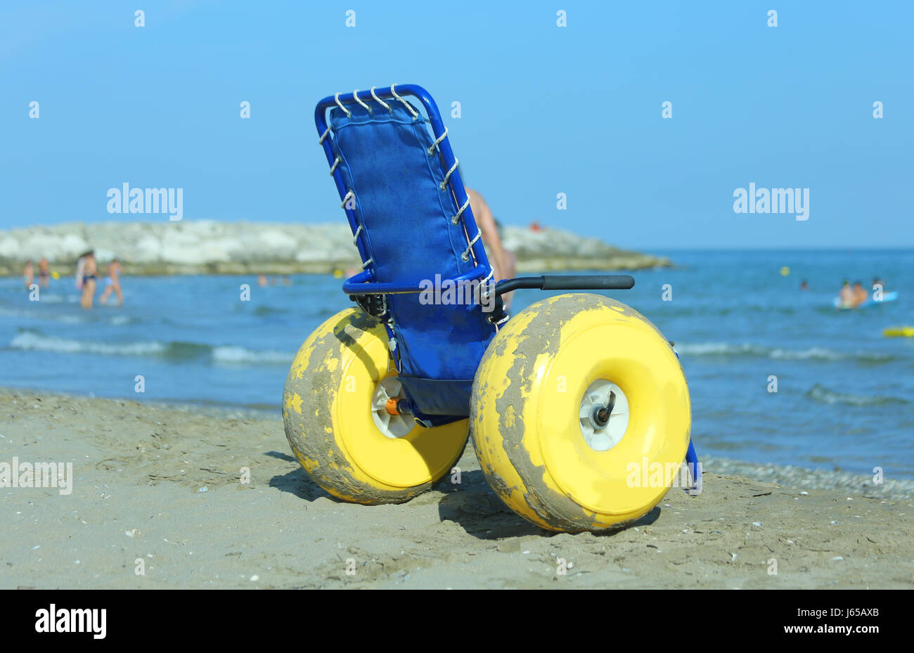Superb Special Wheelchair With Big Yellow Inflatable Wheels To Interior Design Ideas Tzicisoteloinfo
