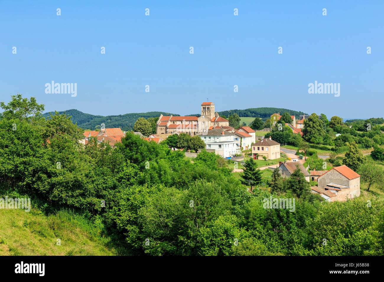 France, Allier, Chatel Montagne - Stock Image
