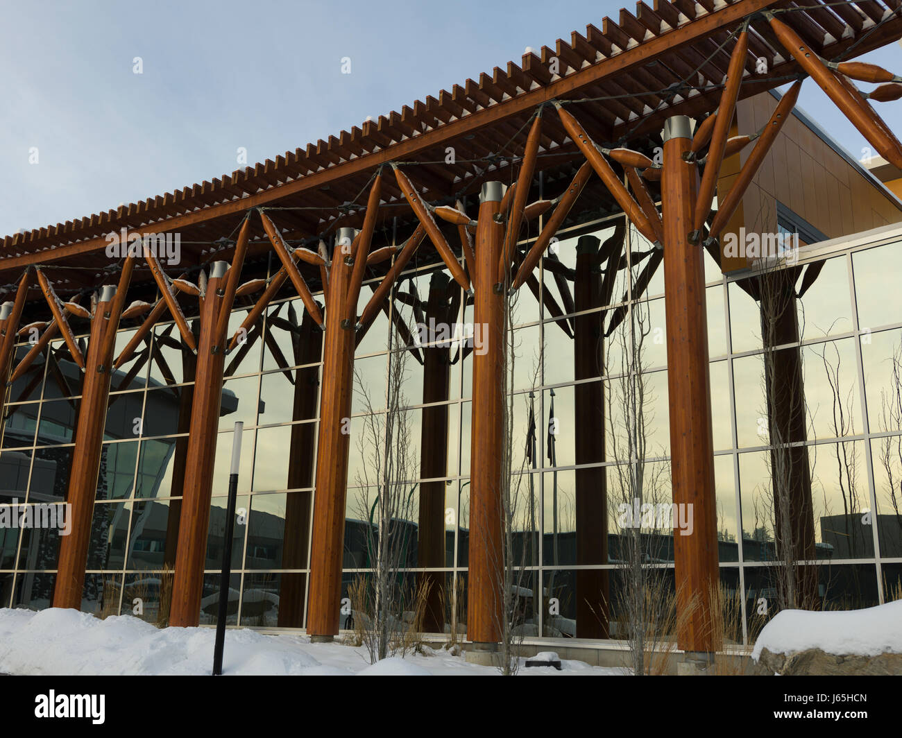Building of Royal Canadian Mounted Police, Prince George, British Columbia, Canada - Stock Image