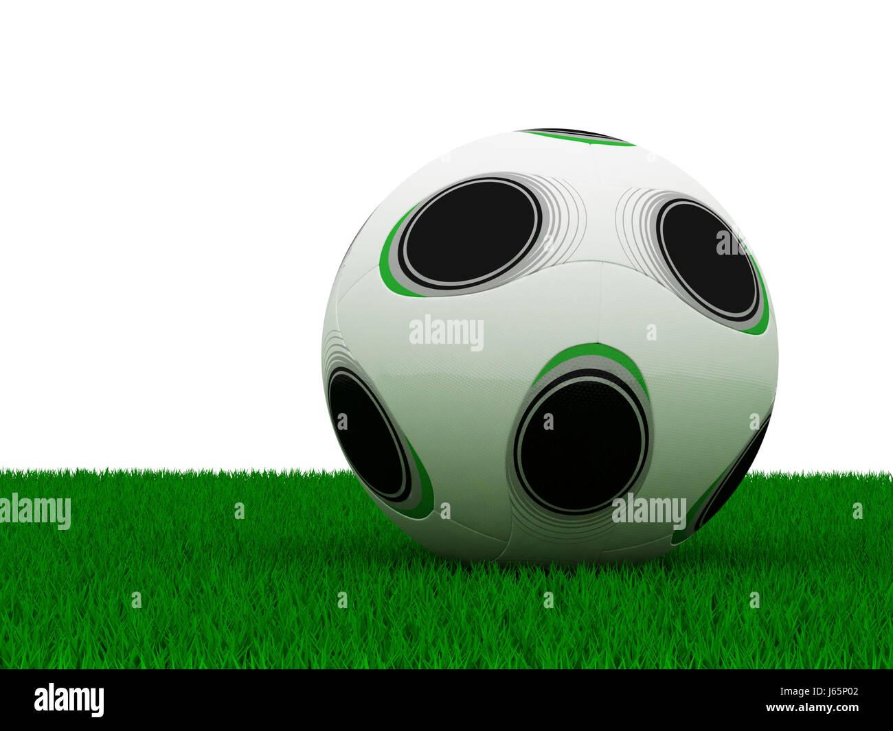 football on grass - Stock Image