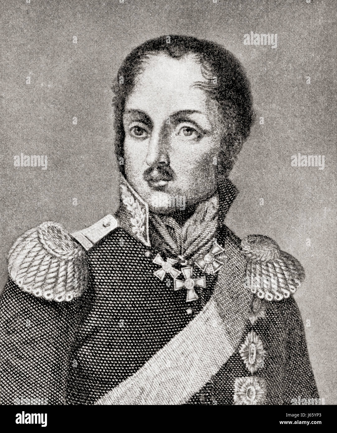 Ludwig Adolph Peter, Prince Wittgenstein, 1769 - 1843.  Russian Field Marshal.  From Hutchinson's History of the Stock Photo