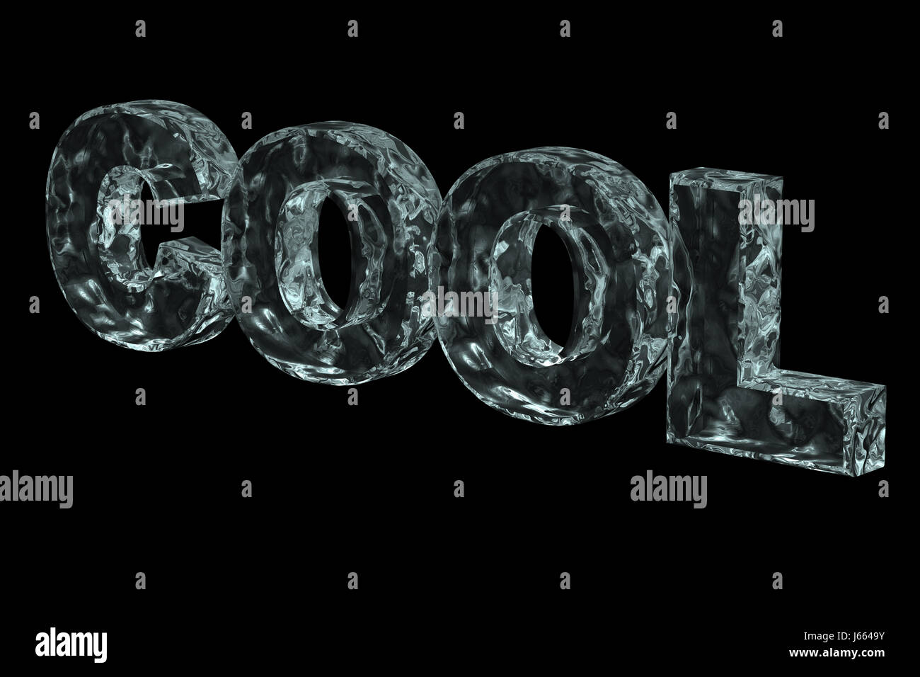 Cold Ice Block Frozen Letters Word Illustration Cool Freeze Icecold Graphic