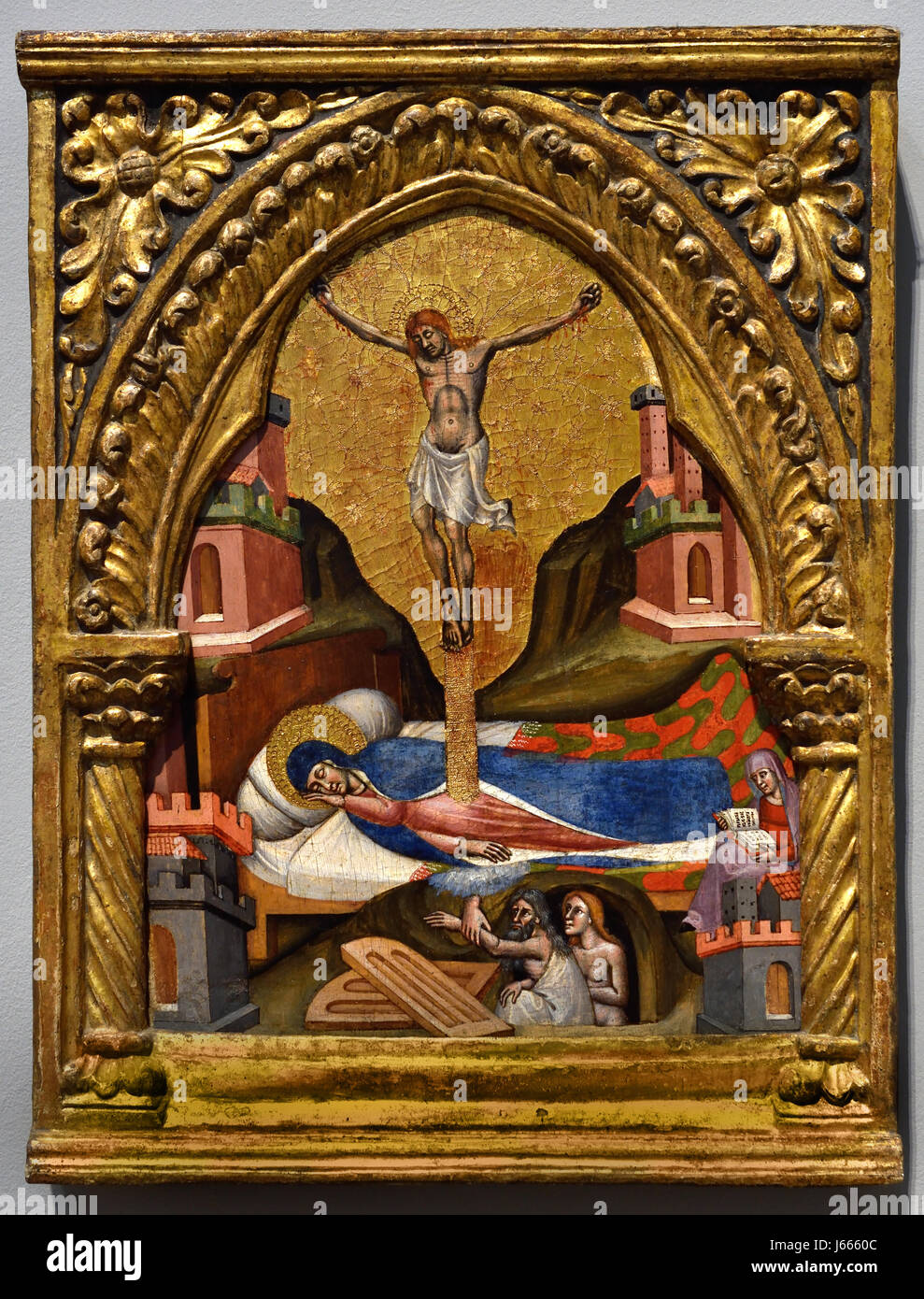 Dream of the Virgin 1365-80 Simone dei Crocefissi 1355 - 1399 Italy Italian - Stock Image