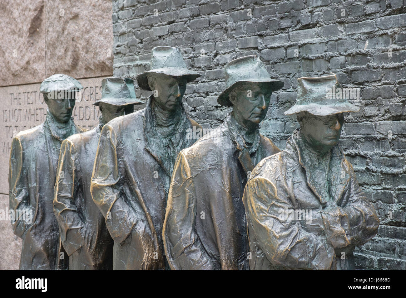 The Breadline, FDR Memorial, Washington, DC - Stock Image
