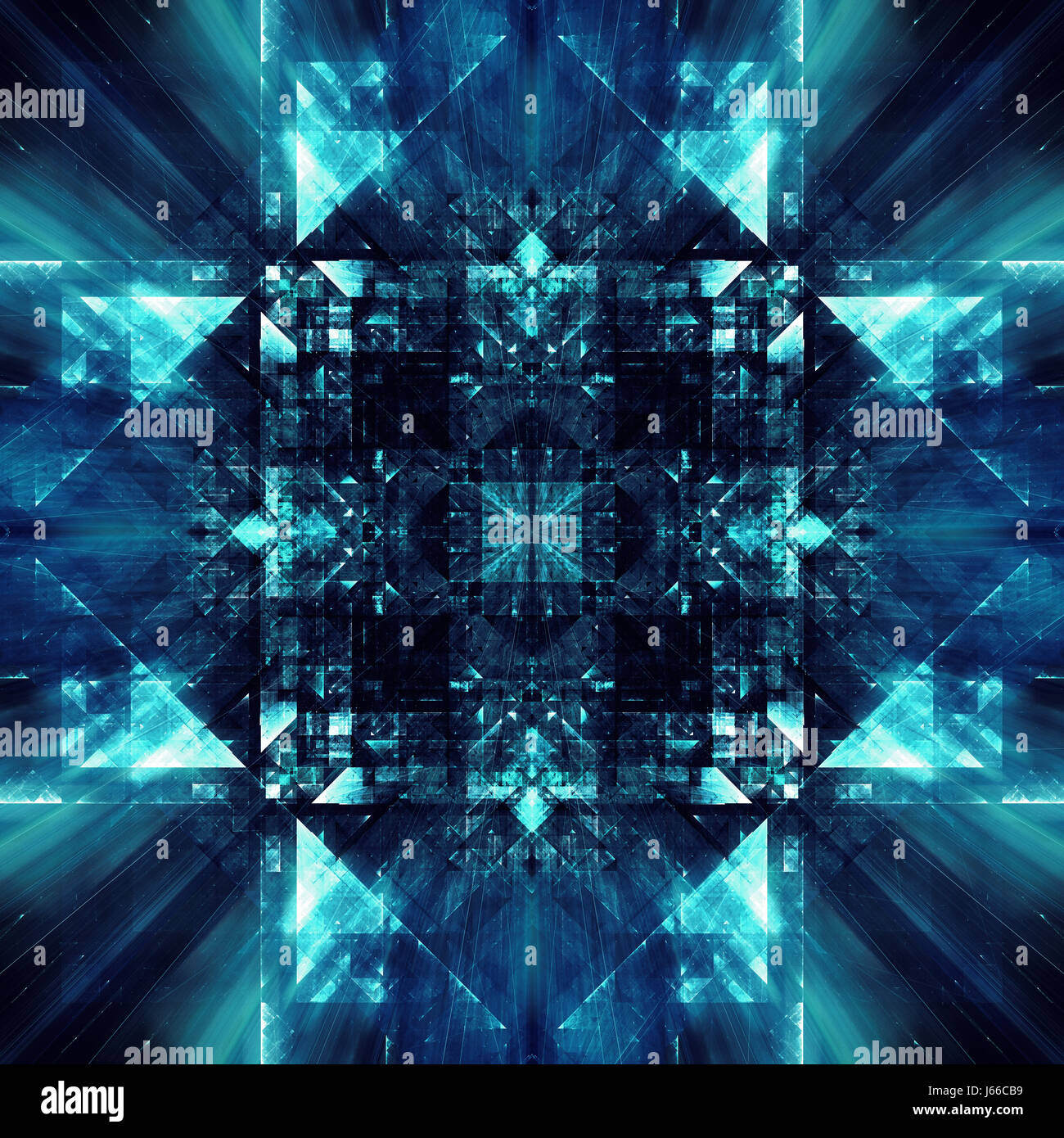 Abstract digital fractal concept based around digital data - Stock Image
