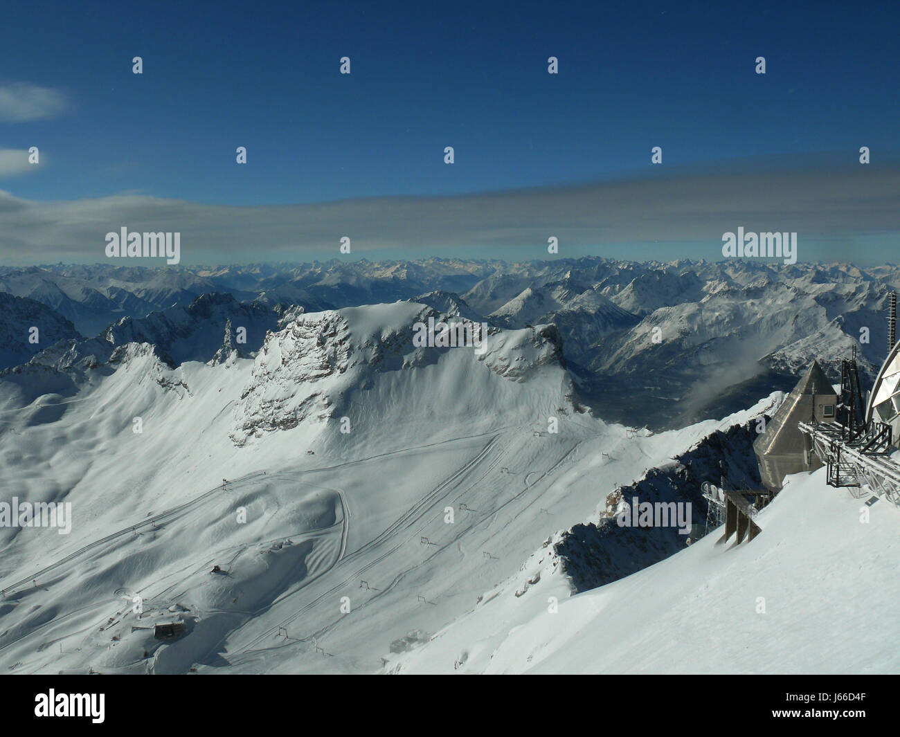 on the zugspitze - Stock Image