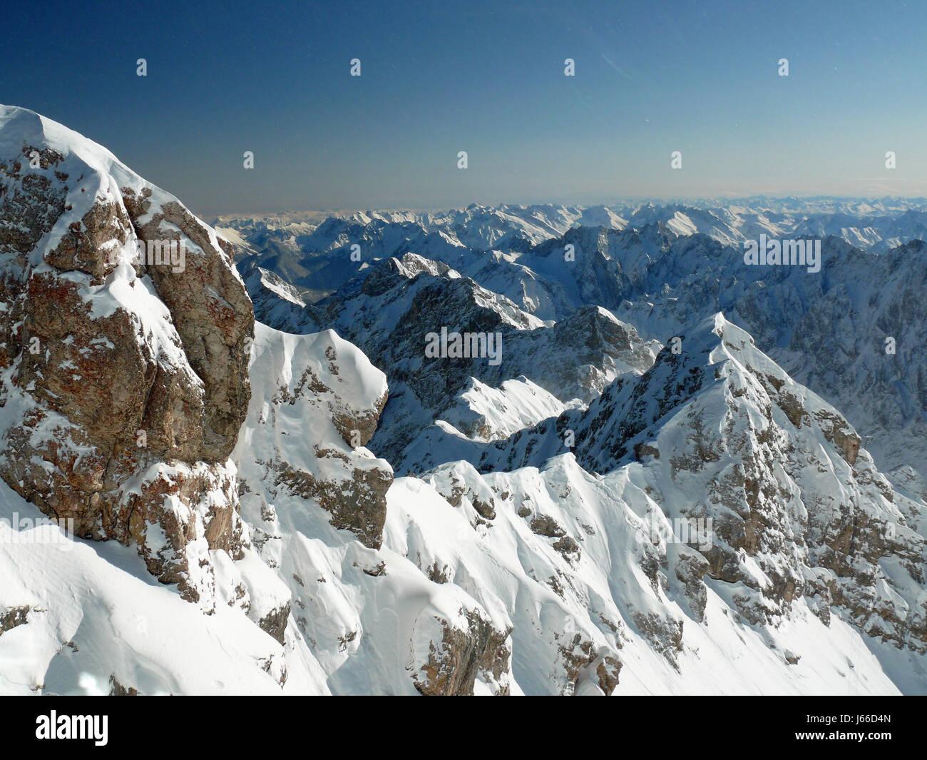 alps bavaria sight view outlook perspective vista panorama lookout maximum - Stock Image