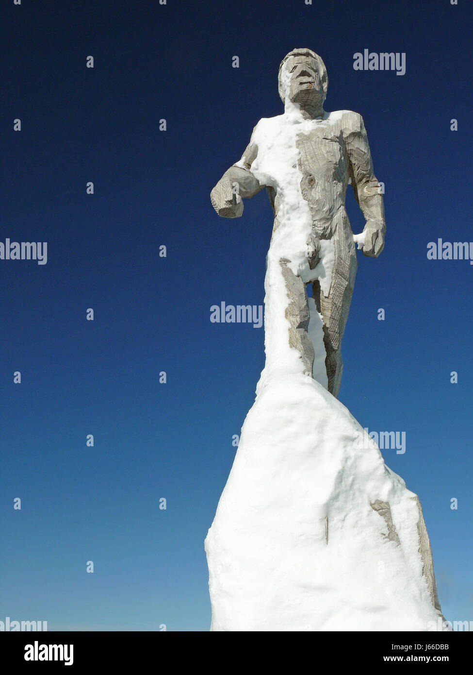 art plastic synthetic material maximum snowman design shaping formation shape - Stock Image