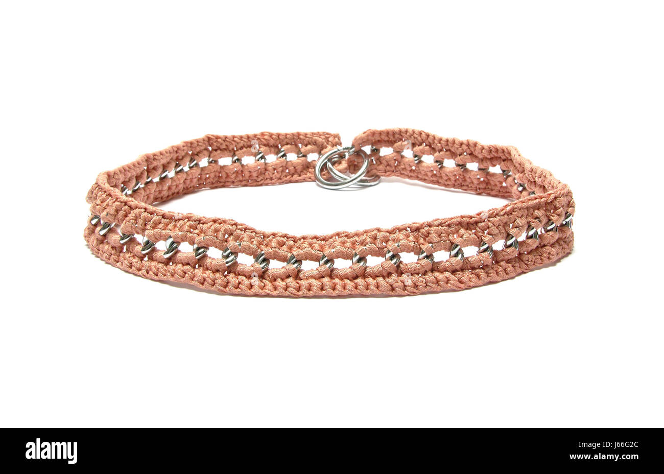 Chain Dog Necklace Crochet Dog Collar Optional Pet Brown Brownish