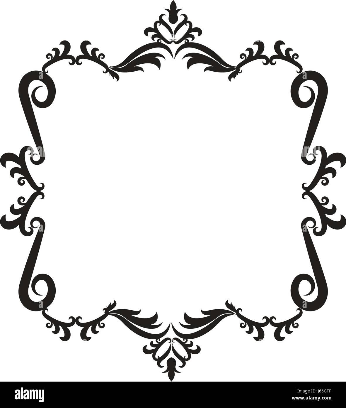decorative frame floral border cute image Stock Vector Art ...