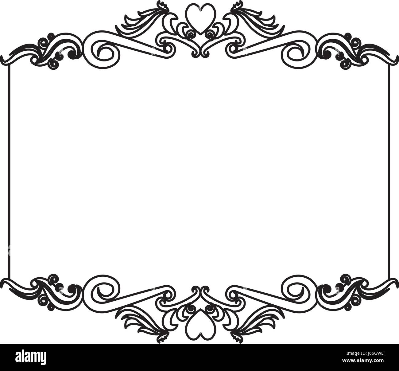 Decorative Black Flower Border Stock Image: Decorative Card Frame Floral Border Cute Image Stock