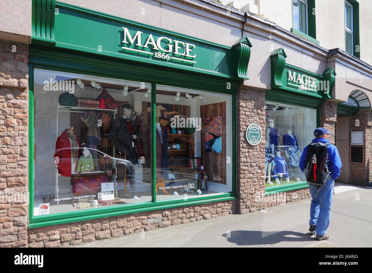 The Magee 1866 department shop in Donegal town, Ireland - Stock Image