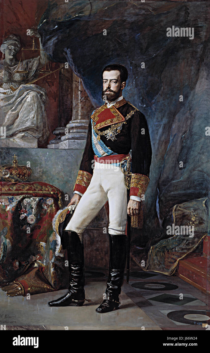 AMADEO I OF SPAIN (1845-1890) - Stock Image