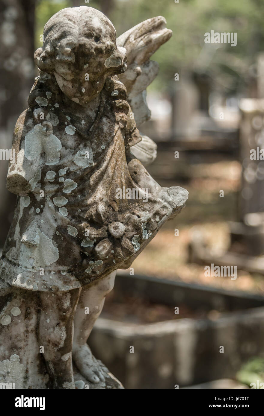 Western Road Cemetery on the island of Penang, Malaysia Stock Photo