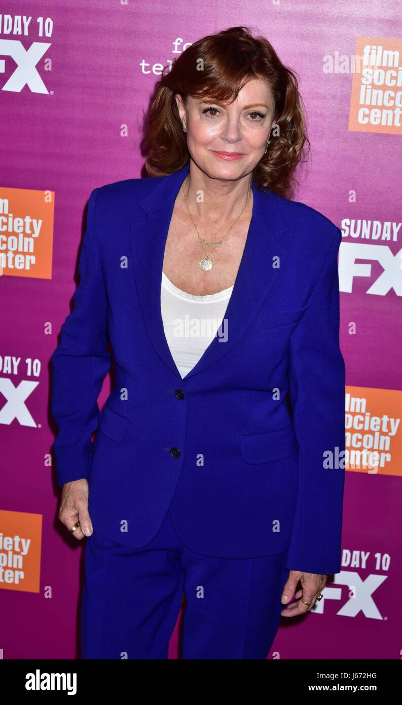 'Feud: Bette and Joan' NYC event at Alice Tully Hall at Lincoln Center - Arrivals  Featuring: Susan Sarandon - Stock Image