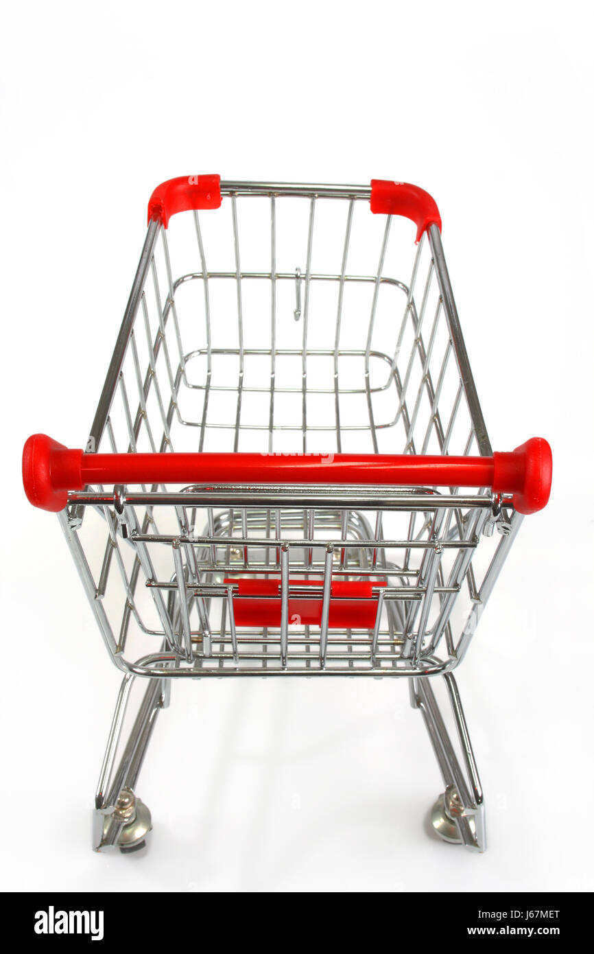 toy trolley cart photo model model empty object silver wheels toy transport - Stock Image