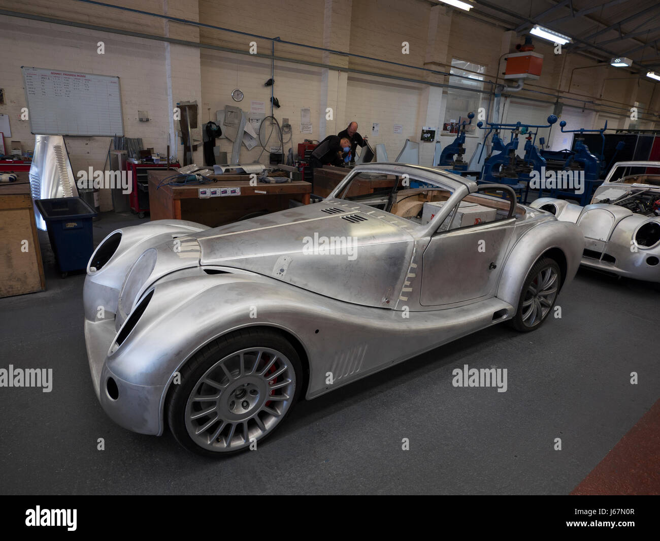 Morgan Motor Cars are still made in Malvern, England much as they were in the early 20th century. The handcrafted - Stock Image