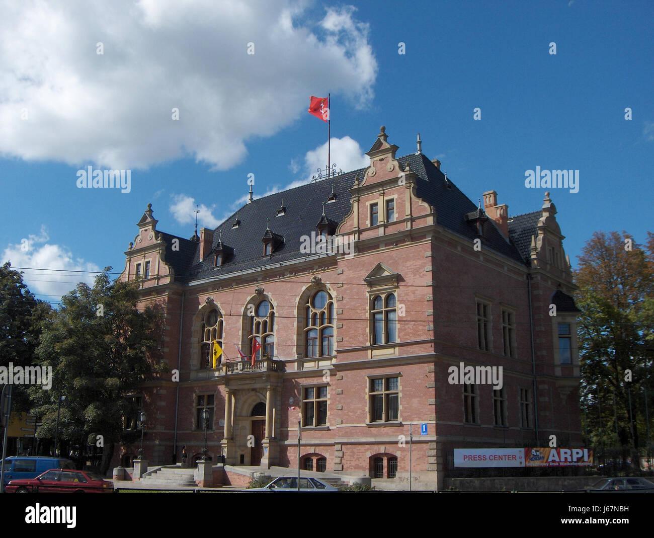 fight fighting poland mail resistance post office polish post historical fight Stock Photo