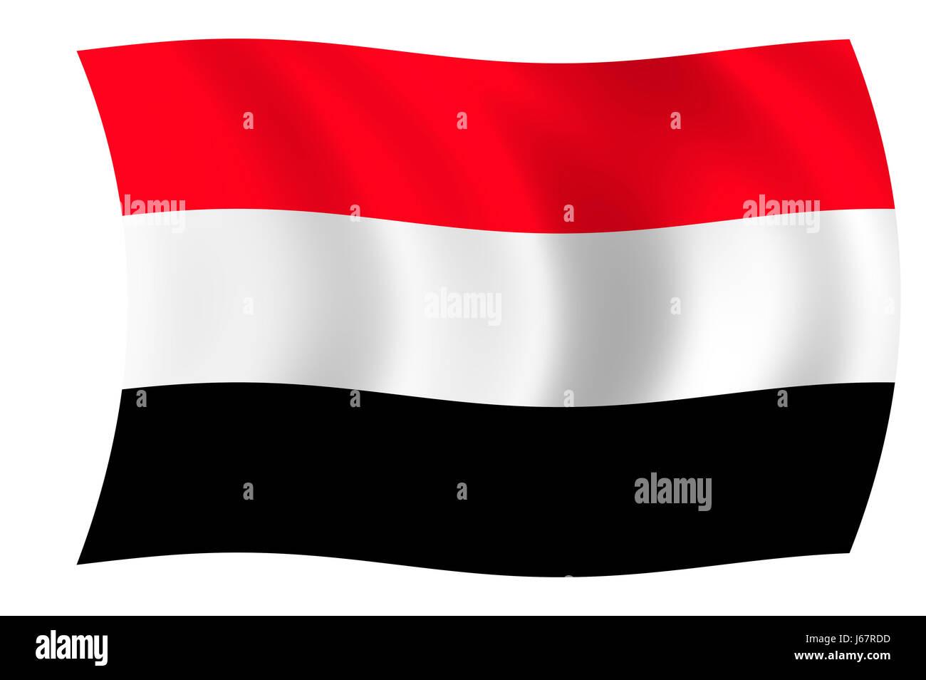 flag yemen - Stock Image