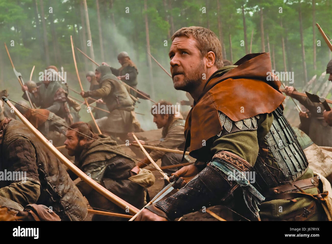 ROBIN HOOD 2010 Universal film with Russell Crowe - Stock Image
