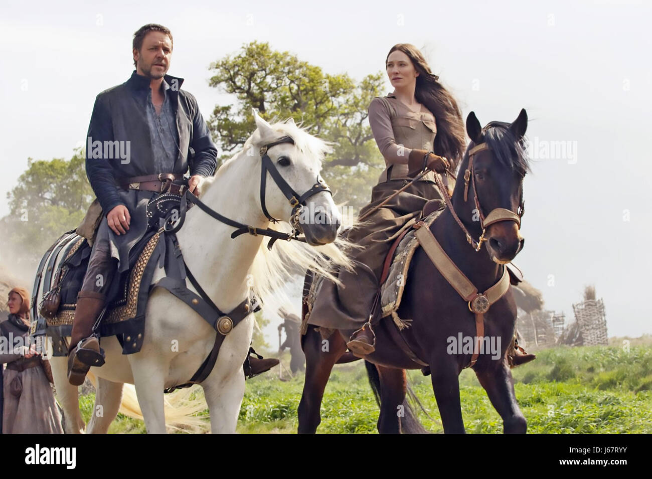 ROBIN HOOD 2010 Universal film with Russell Crowe and Cate Blanchett - Stock Image