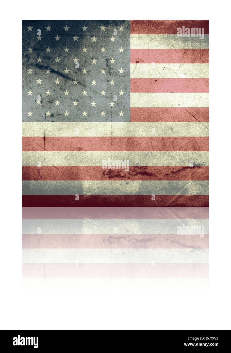 usa flag grunge version - Stock Image