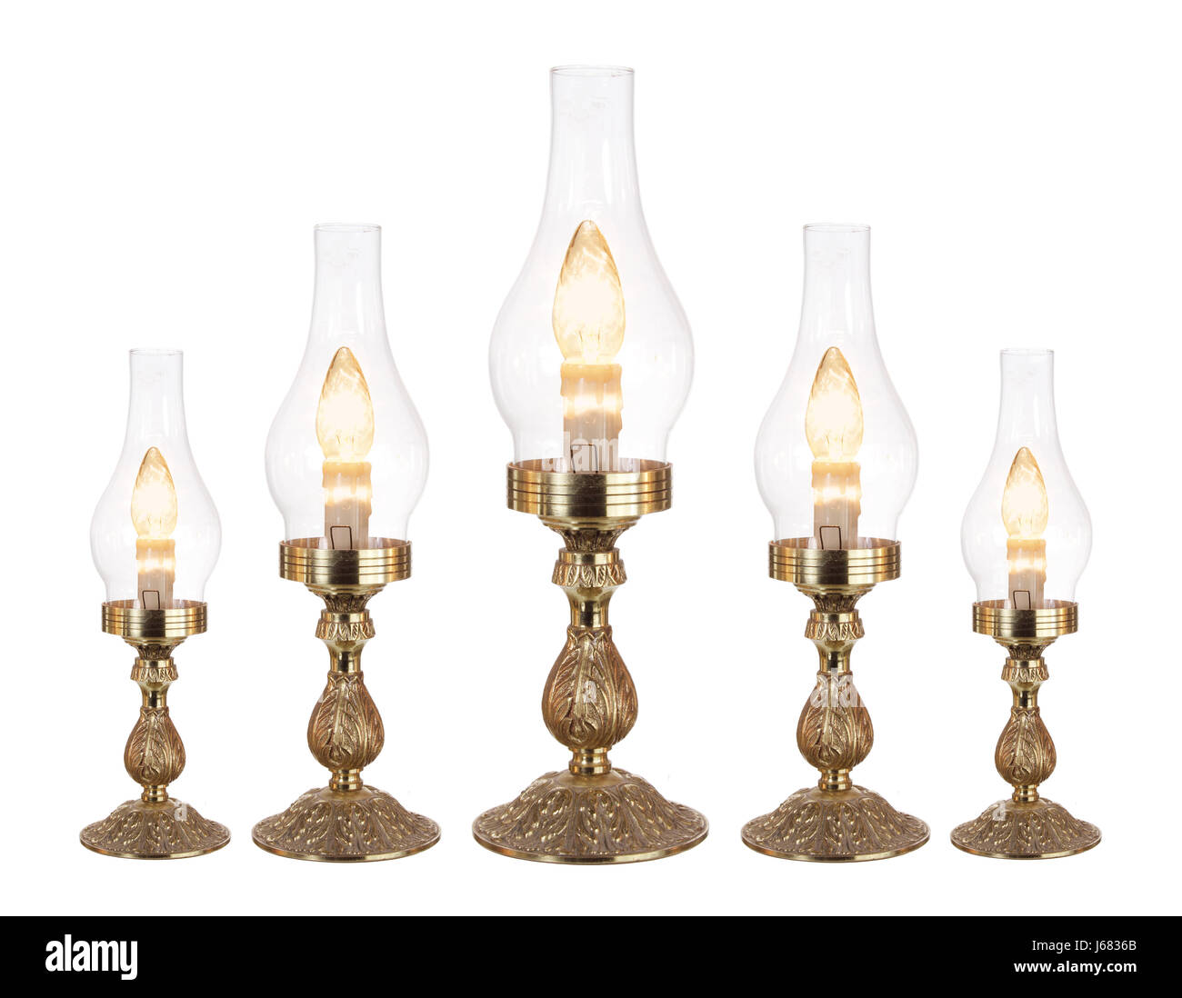 Table Lamps on White Background - Stock Image